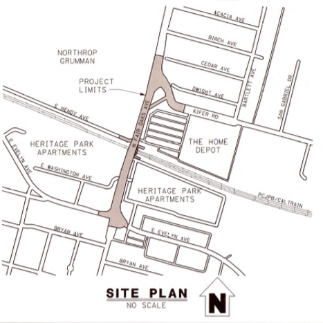 Site map of Fair Oakds Bridge and its surrounding roads